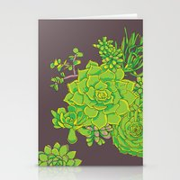 Succulent Pattern Stationery Cards