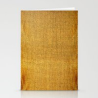 Burlap texture look Stationery Cards