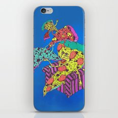 Pizza Eating Pizza - Blue Edition iPhone & iPod Skin
