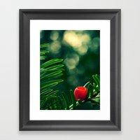 Red Coffee Framed Art Print