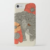 elephants iPhone & iPod Cases featuring The Elephant by Valentina Harper