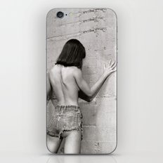 Wall flower girl iPhone & iPod Skin