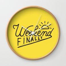 Weekend Finally Wall Clock