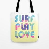 Surf Play Love Tote Bag