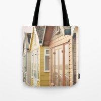 English Beach Huts Tote Bag