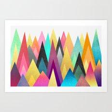 Dreamy Peaks Art Print