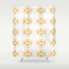 Green Eye Pattern  Shower Curtain