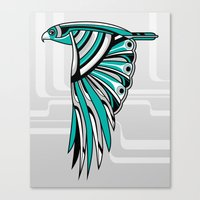 Hawk Deco II Canvas Print