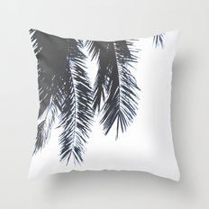 Palm Tree leaves abstract Throw Pillow