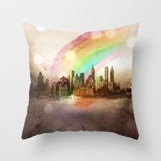 NYC Sky Throw Pillow