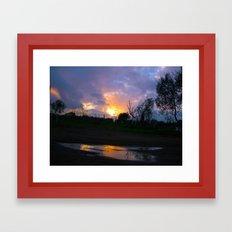 Sunset from my house 4 Framed Art Print