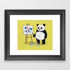 Panda Painter Framed Art Print