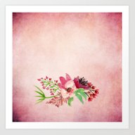 Purple Watercolor Bouque… Art Print