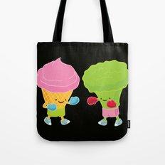 Broccoli vs Ice cream Tote Bag