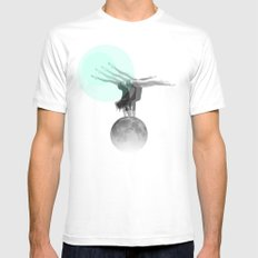 L'équilibre SMALL White Mens Fitted Tee