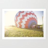 morning light::denver Art Print