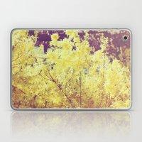 yellow flower - Forsythia Laptop & iPad Skin