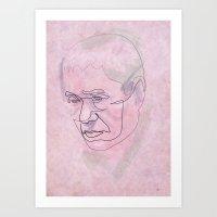 One Line Takeshi Kitano Art Print
