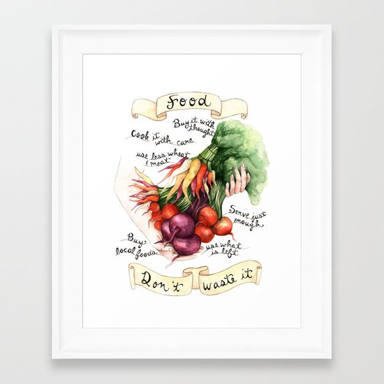 Food Poster Framed Art Print