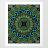 Peacock Abstract Art Print