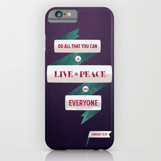 Romans 12:18 iPhone & iPod Case