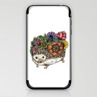 Flower Hedgehog iPhone & iPod Skin