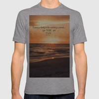 You Are My Sunset Mens Fitted Tee Athletic Grey SMALL