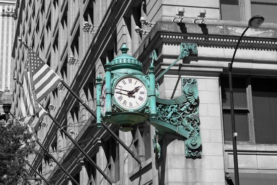 Chicago Marshall Field's Clock Photo Art Print