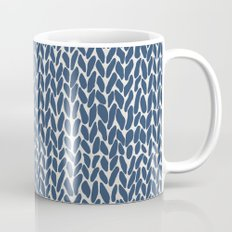 Hand Knit Navy Mug
