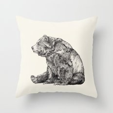 Bear // Graphite Throw Pillow