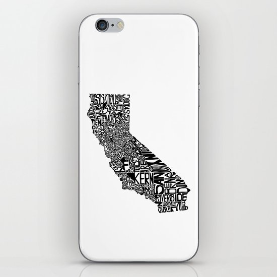 Typographic California iPhone & iPod Skin