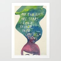 Thoughts Are Constellati… Art Print