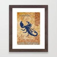 scorpius | skorpion Framed Art Print