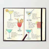Cocktails Spanish Canvas Print
