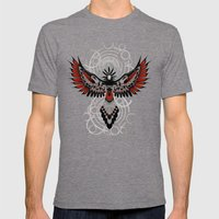 Divine Crow Woman Mens Fitted Tee Tri-Grey SMALL