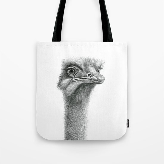Funny Ostrich SK060 Tote Bag