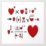 Art Print featuring FORMULA OF LOVE by Acus