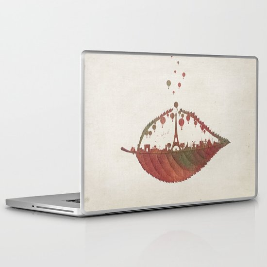 Magical Flight over Paris Laptop & iPad Skin