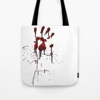 Zombie Attack Bloodprint - Halloween Tote Bag