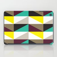Yellow, purple, turquoise triangle pattern iPad Case