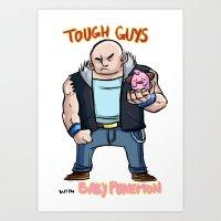 Tough Guys With Baby Pok… Art Print