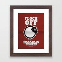 Baaadass the Sheep: Flock Off Framed Art Print