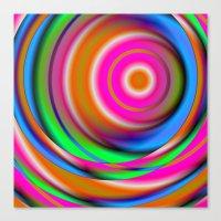 Candy Twist Canvas Print