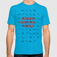 Zombie Survival Tools - Pattern 'o tools Mens Fitted Tee Teal SMALL