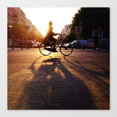 bike/shadow Canvas Print