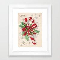 A Vintage Merry Christma… Framed Art Print