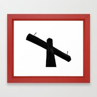 THE CROSS Framed Art Print