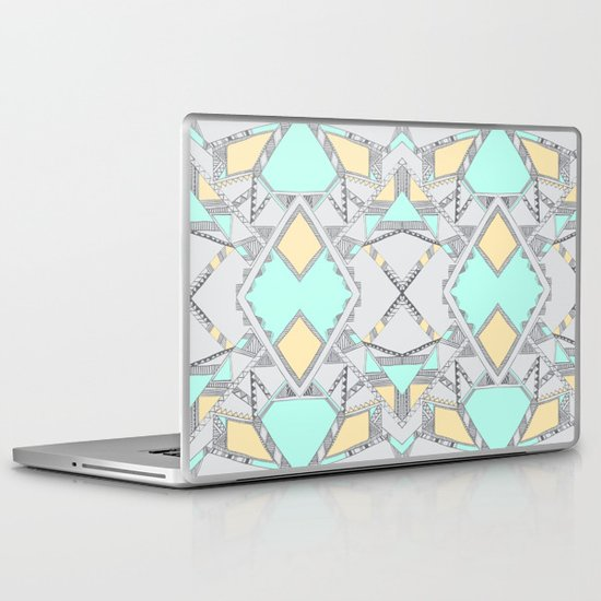 Aztec print illustration (2) Laptop & iPad Skin