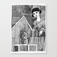 Girl On The Top Of Her H… Canvas Print