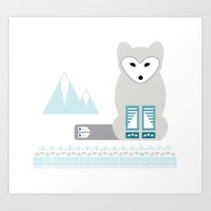 Kettu the Arctic Fox Art Print